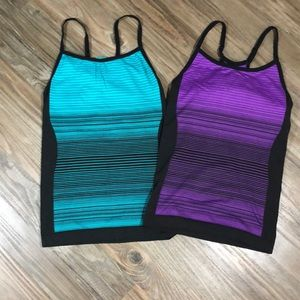 Spalding Shelf Bra Racerback Tanks (2)